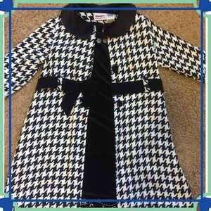 Houndstooth Dress & Coat Combo